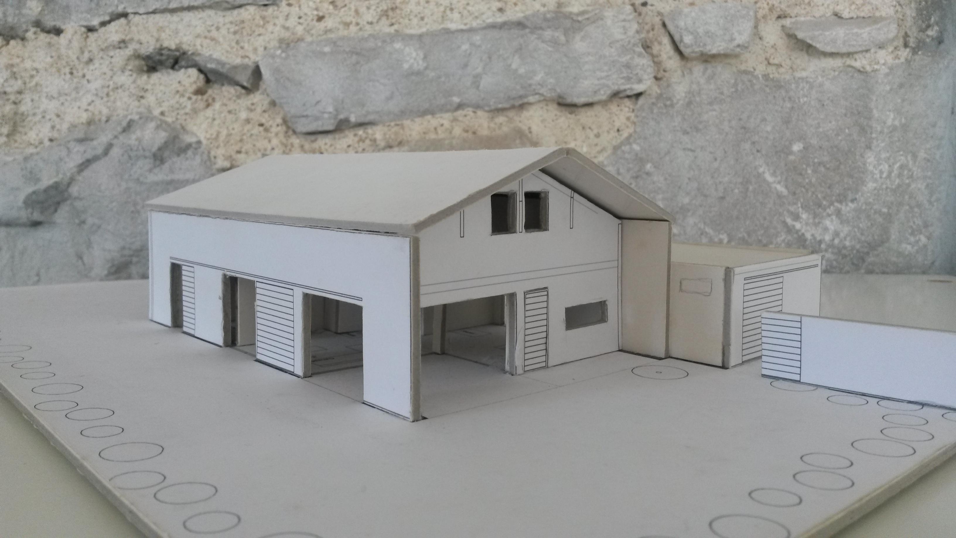 Maison économique à Labenne Architecte Pays Basque Maquette Maison Labenne Gwenael Stephan