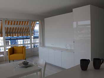 Aménagement d'un appartement de 35m² St Jean de Luz Architecte Pays Basque Gwenael Stephan